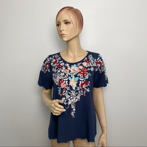 Andree by Unit Embroidered Top Small